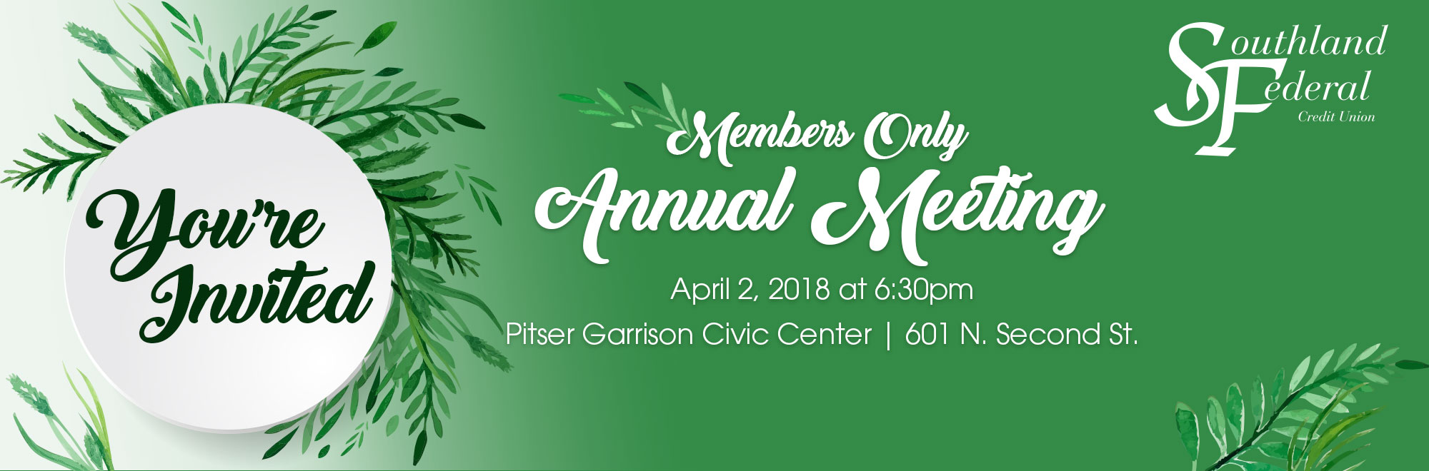 Members Only Annual Meeting April 2, 2018