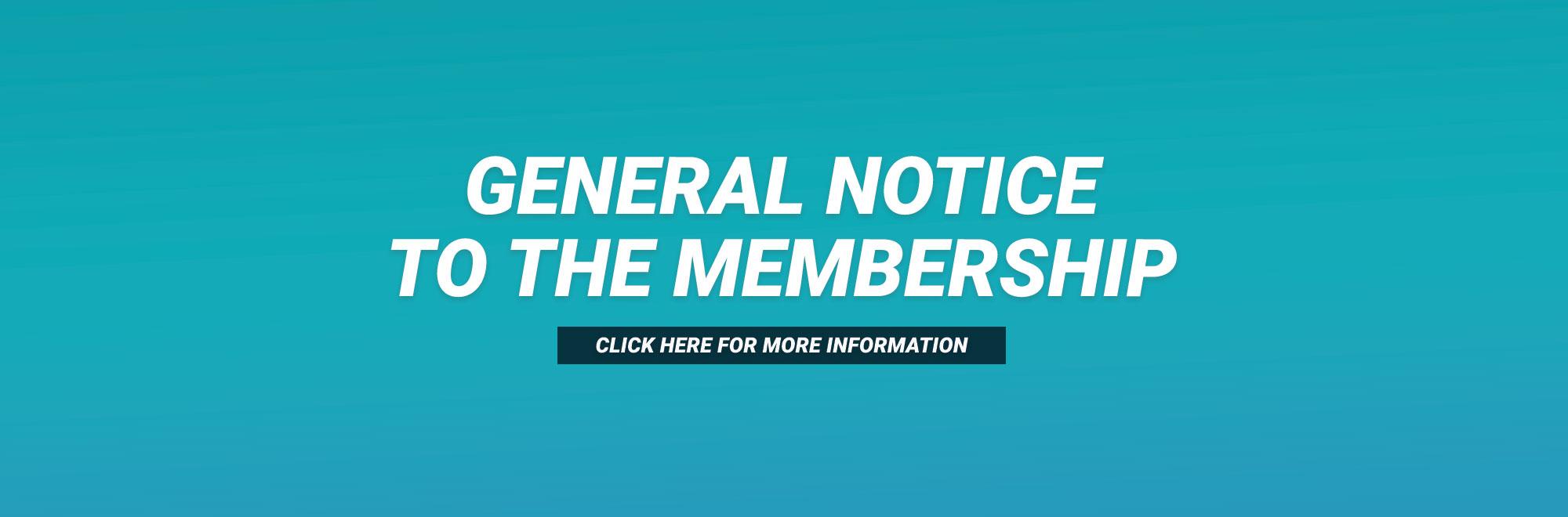 General Notice Banner