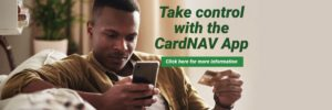 Take control with the CardNAV App