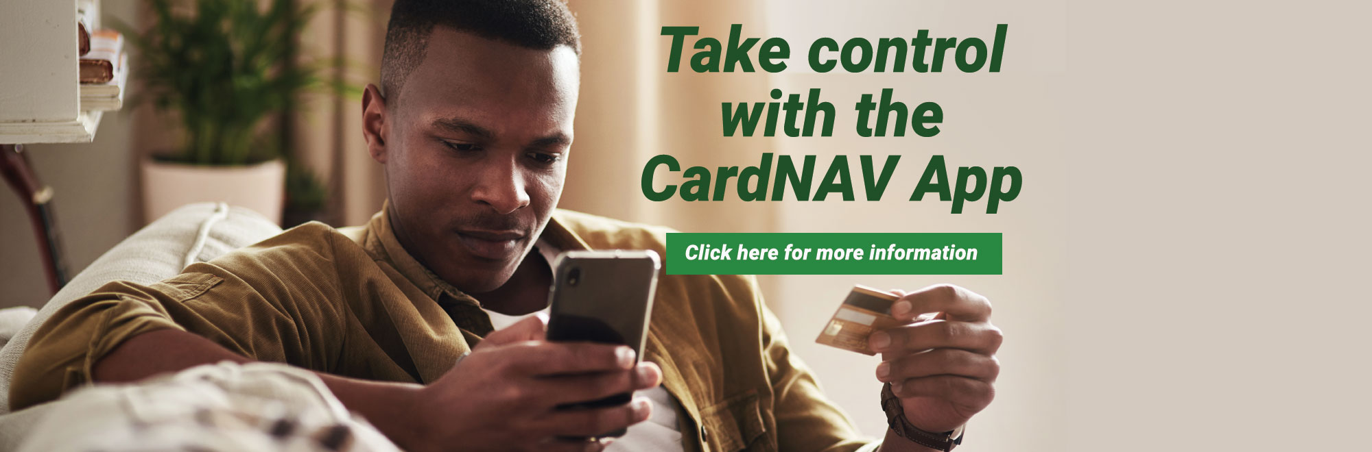 Take Control with Card Nav. Click to learn more